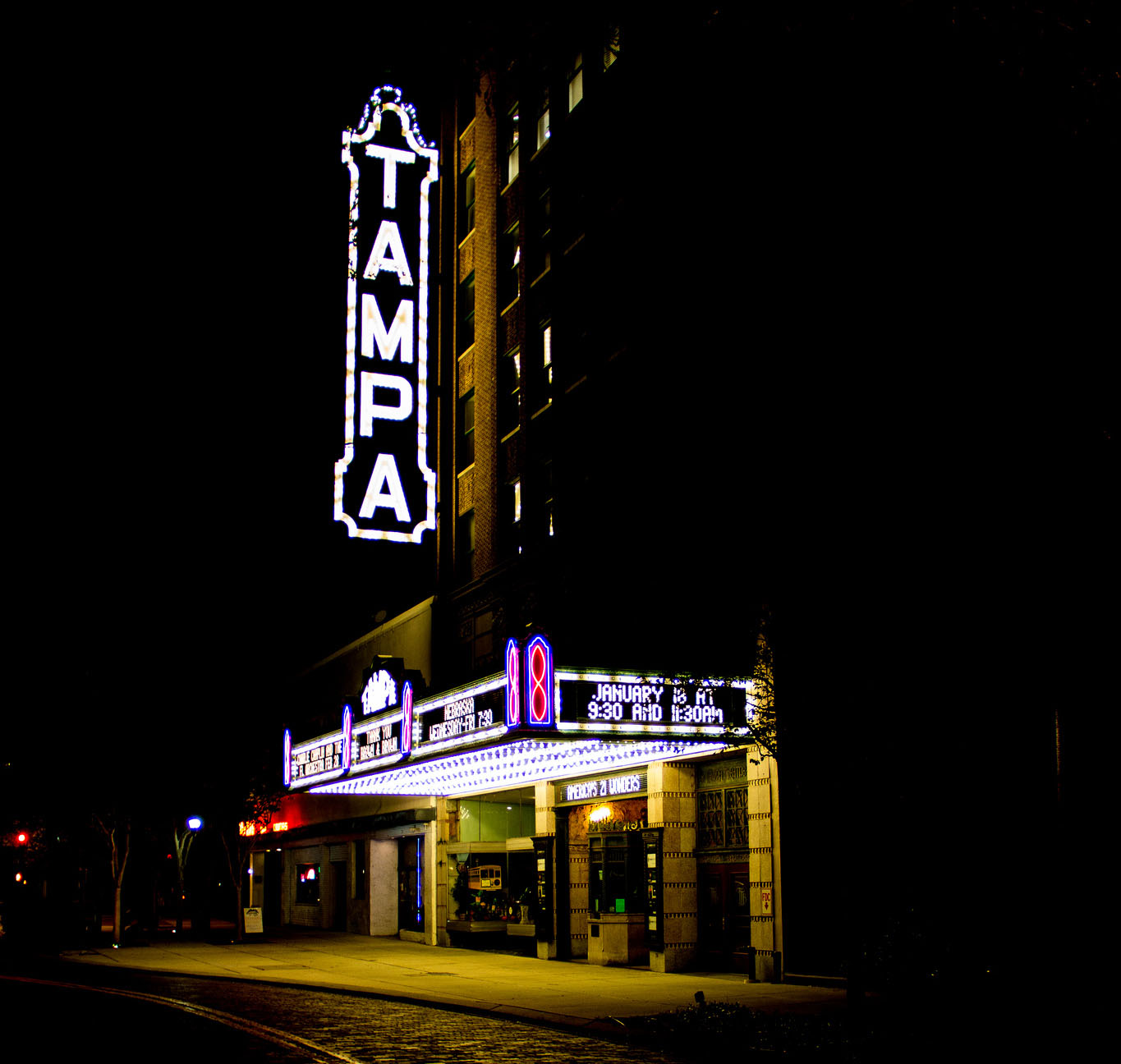 A photograph of the Tampa theater in beautiful downtown Tampa, Fl by Sam Hamberg.
